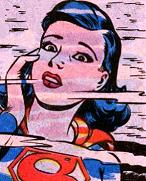 Superboy as a girl seeing his reflection